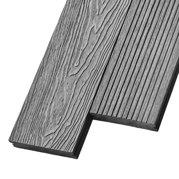 Композитная террасная доска из ДПК, декинг, палубная доска Deckson Pinea 3D 140х20 мм цвет серый