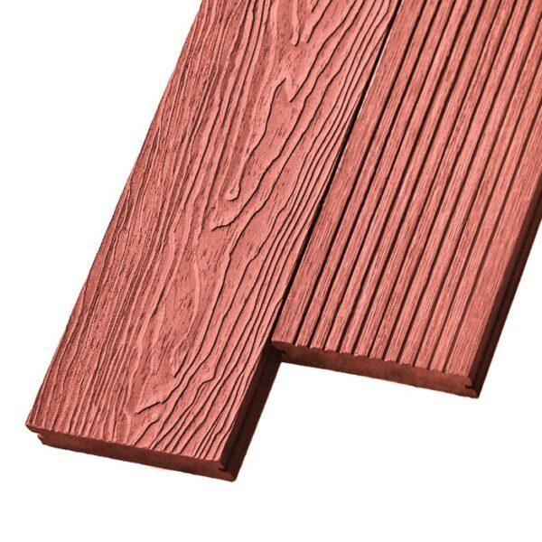Композитная террасная доска из ДПК, декинг, палубная доска Deckson Pinea 3D 140х20 мм цвет тик