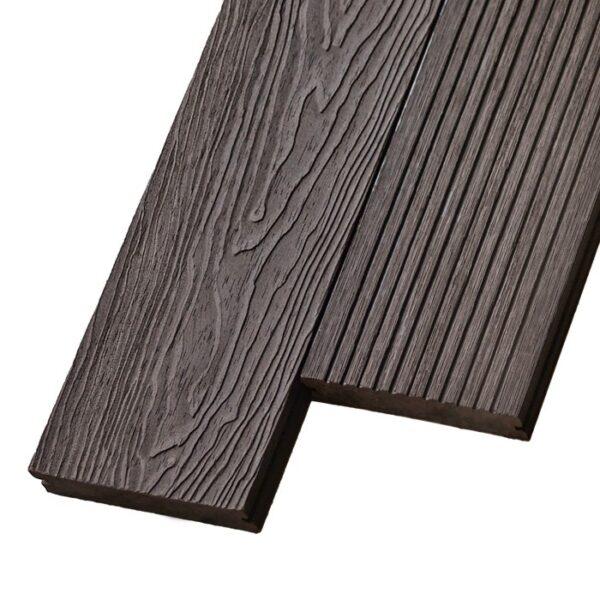 Композитная террасная доска из ДПК, декинг, палубная доска Deckson Pinea 3D 140х20 мм цвет венге
