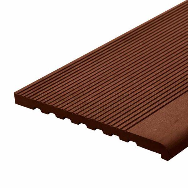 Ступень ДПК WoodVex Stair 348х22 мм цвет темно-коричневый