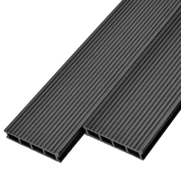 Террасная доска ДПК, декинг Deckson Classic 165х32 мм цвет графит