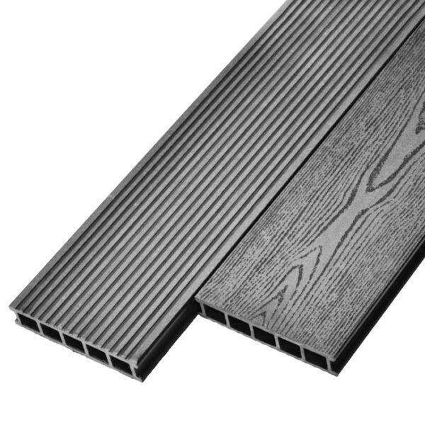 Террасная доска ДПК, декинг Deckson Universal 165х32 мм цвет серый