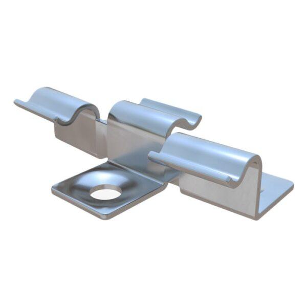 3d кляймер из нержавейки, клипса для укладки и монтажа террасной доски HILST FIX 3D, промежуточный кляймер