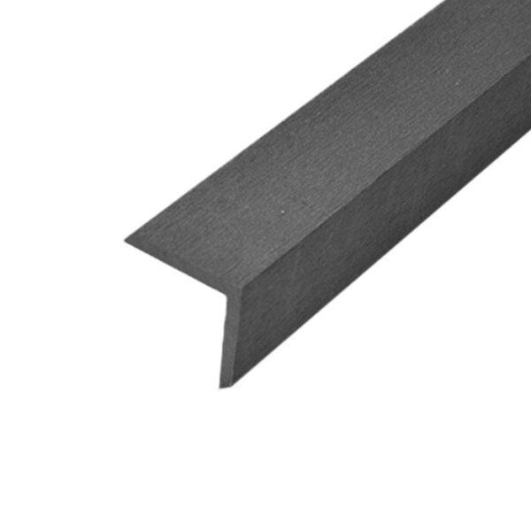 L-планка, угол ДПК для террасной доски Select 53х53х2000 мм цвет графит