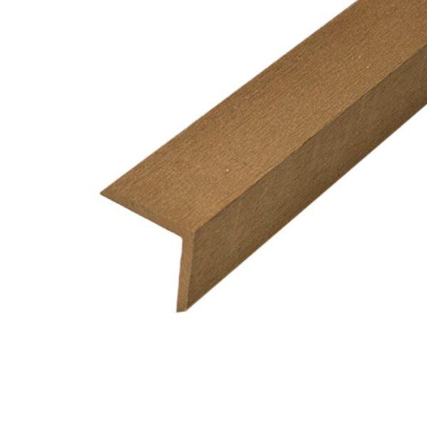 L-планка, угол ДПК для террасной доски Select 53х53х2000 мм цвет темно-коричневый