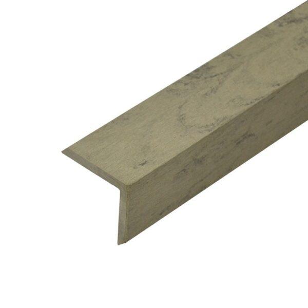 L-планка, угол ДПК для террасной доски Siesta 53х53х3000 мм цвет серый