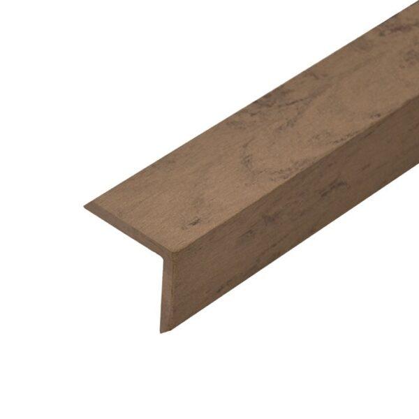 L-планка, угол ДПК для террасной доски Siesta 53х53х3000 мм цвет венге