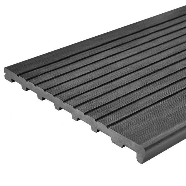 Ступень ДПК для лестницы UnoDeck 345х23 мм цвет графит