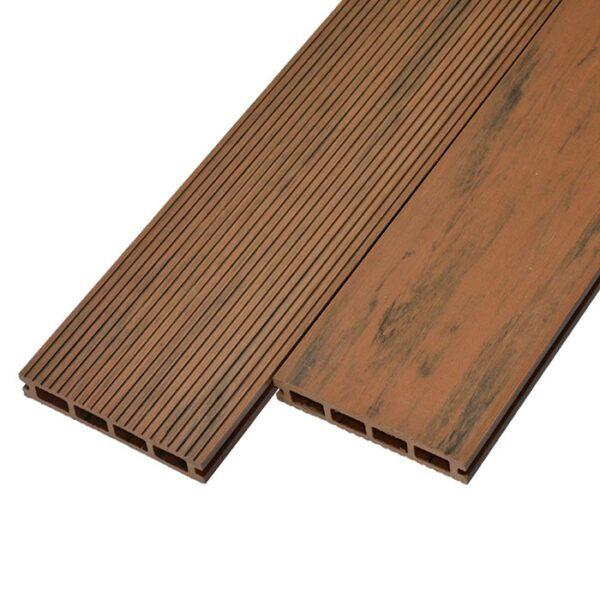 Террасная доска ДПК, декинг WoodVex Elegant 150х25 мм цвет тик
