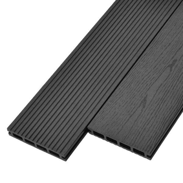Террасная доска ДПК, декинг WoodVex Select 146х22 мм цвет графит