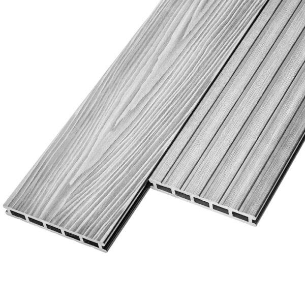 Террасная доска ДПК, декинг Unodeck Mogano 165x24 мм цвет серый