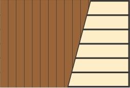 Схема укладки террасной доски по вертикали