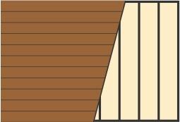 Схема укладки террасной доски по горизонтали