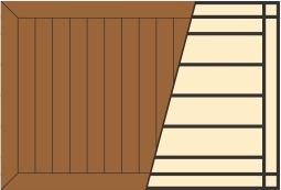 Схема укладки террасной доски с обрамлением