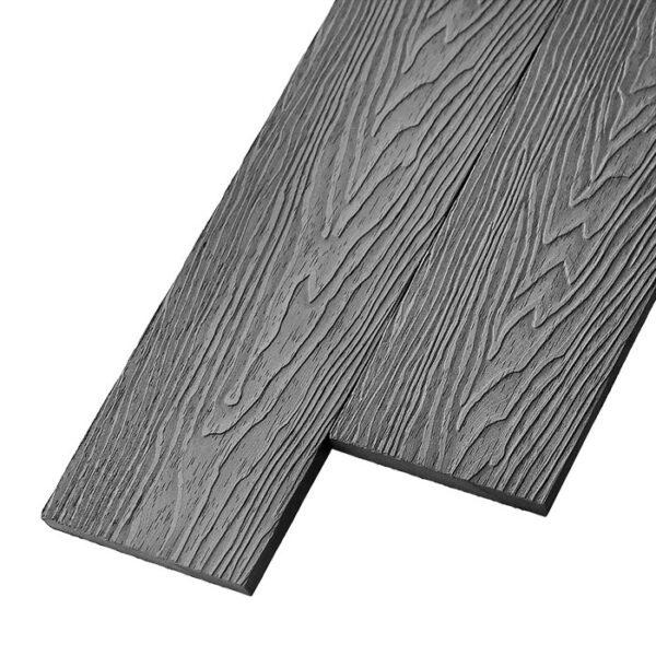 Композитная заборная доска из ДПК, планкен Deckson Avista 3D цвет серый