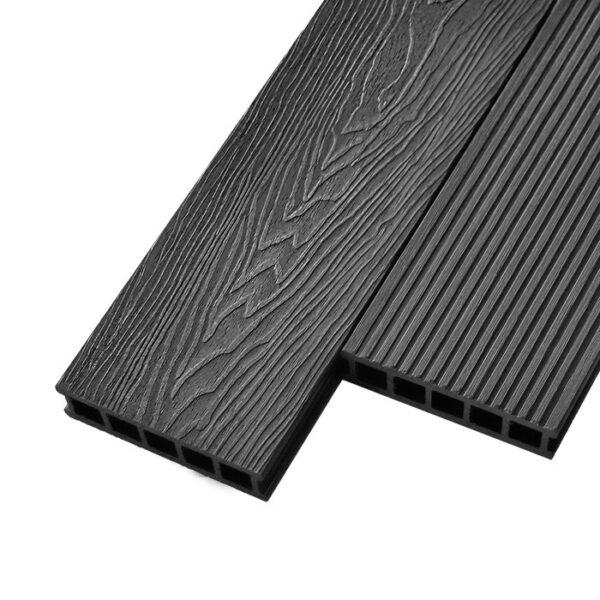 Композитная террасная доска из ДПК, декинг Deckson Crown 3D 165х32 мм цвет графит
