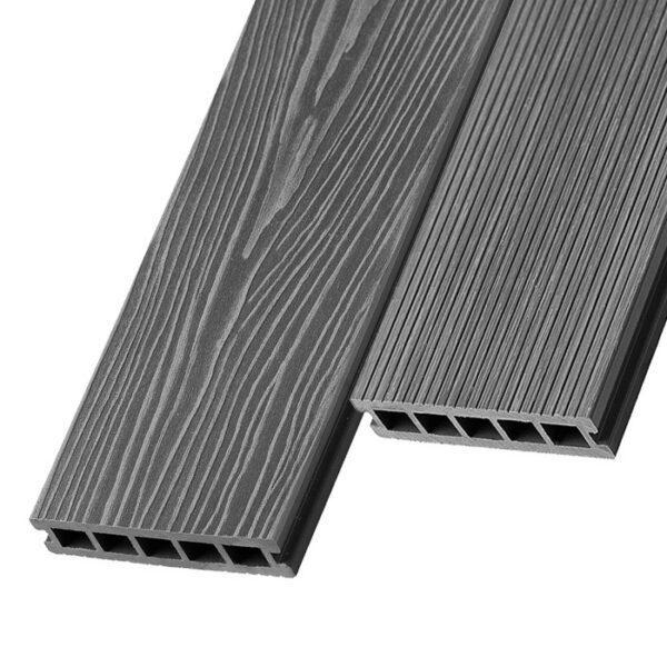 Композитная террасная доска из ДПК, декинг Unodeck Ultra 150х24 мм цвет серый