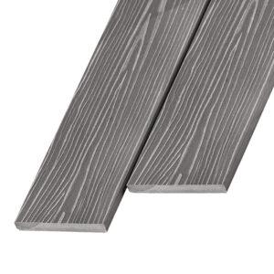 Композитная заборная доска из ДПК, планкен Unodeck Forte 140x11 мм цвет серый
