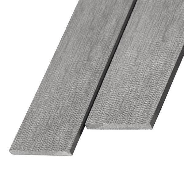 Композитная заборная доска из ДПК, планкен Unodeck Patio 140x11 мм цвет серый