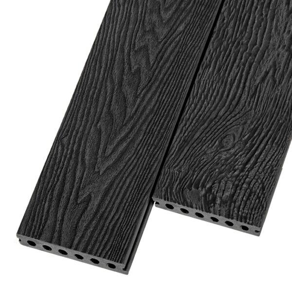 Композитная террасная доска из ДПК, декинг Polivan Titan 140х24 мм цвет графит