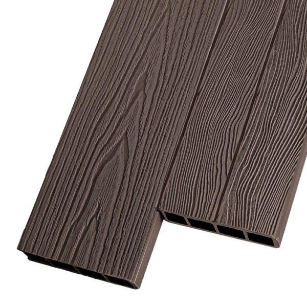 Композитная заборная и грядочная доска из ДПК Decking Corteze 150х25 мм цвет коричневый
