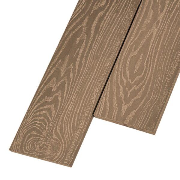 Композитная заборная доска из ДПК, планкен Savewood 145x9 мм цвет орех
