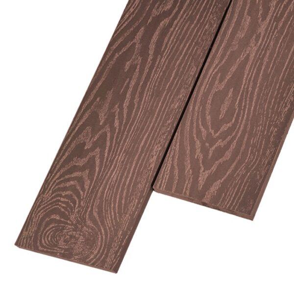 Композитная заборная доска из ДПК, планкен Savewood 145x9 мм цвет терракот